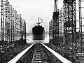 Launch of the cargo ship 'Baron Belhaven' (21976210514).jpg