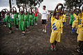 Launching of a soccer school by MONUSCO Urugayan peacekeepers in Don Bosco college Goma (14061397951).jpg