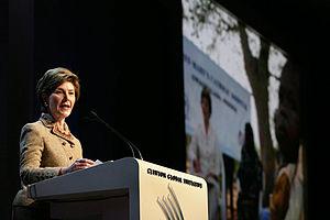 Philanthropreneur - Image: Laura Bush announces partnership with Case Foundation