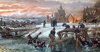 1812. Le Capitaine Benthien  à la Bérézina