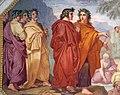 Le plafond de la bibliothèque du Casino Nobile (Villa Torlonia, Rome) (33568237863).jpg