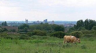 Scraptoft Nature Reserve - Image: Leicester skyline geograph.org.uk 472568