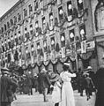 Leipzig, Brühl, 1913 am Tag der Einweihung des Völkerschlacht-Denkmals.jpg