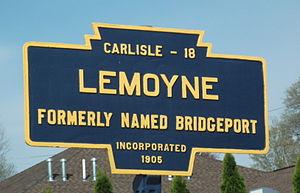 Lemoyne, Pennsylvania - Image: Lemoyne, PA Keystone Marker