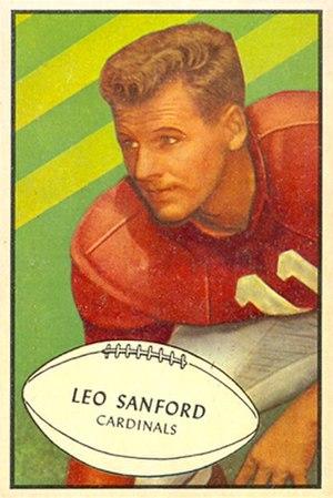 Leo Sanford - Sanford on a 1953 Bowman football card