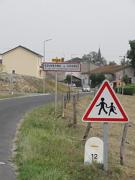 Les Souhesmes (Les Souhesmes-Rampont, Meuse) City limit sign Souhesme-la-Grande