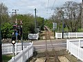 Level crossing on the Seaton tramway at Colyford - geograph.org.uk - 1285543.jpg