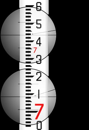 Philadelphia rod - Image: Leveling Rod reading examples jpeg