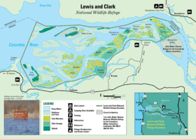 Lewis And Clark National Wildlife Refuge Wikipedia - Map of us and wildlife preserves