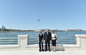 Leyla Aliyeva - Leyla Aliyeva with her parents