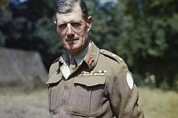 Lieutenant General J T Crocker, Cb, Cbe, Dso, Mc, Commander of 1st Corps, France, August 1944 TR2168.jpg