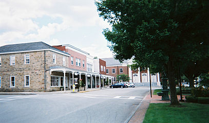 Ligonier S Downtown With The Town Hall In Background