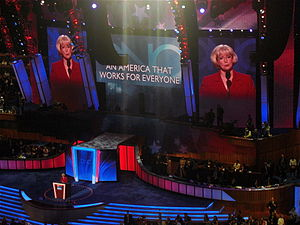 Lilly Ledbetter speaks during the second day o...