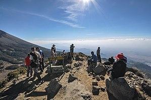 Mount Meru (Tanzania) - Image: Little Meru Peak 3,820 metres