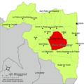 Localització de Cervera del Maestrat respecte del Baix Maestrat.png