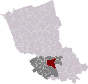 Hazebrouck - Location of Hazebrouck in the arrondissement of Dunkirk