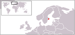 Location of Stockholm in northern Europe