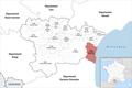 Locator map of Kanton Les Corbières Maritimes 2019.png