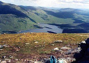 Gairich - Loch Quoich from Gairich summit.