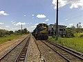 Locomotiva de comboio parado no pátio da Estação Ferroviária de Salto - Variante Boa Vista-Guaianã km 210 - panoramio.jpg