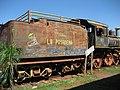 """Locomotora a Vapor """"La Posadeña"""" frente a Estacion de Trenes de Posadas.jpg"""