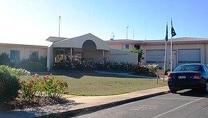 HM Prison Loddon - The main entrance of Loddon Prison.
