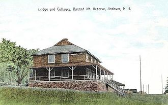 Andover, New Hampshire - Image: Lodge & Cottages, Ragged Mountain Reserve
