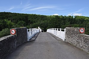 Whitney-on-Wye toll bridge - Looking across the toll bridge at Whitney-on-Wye.