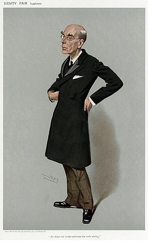 """Edmond Fitzmaurice, 1st Baron Fitzmaurice - """"He does not under-estimate his own ability"""". Lord Fitzmaurice as depicted by """"Spy"""" (Leslie Ward) in Vanity Fair, June 1906."""