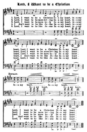 Lord, I Want to Be a Christian - Sheet music for Lord, I Want to Be a Christian