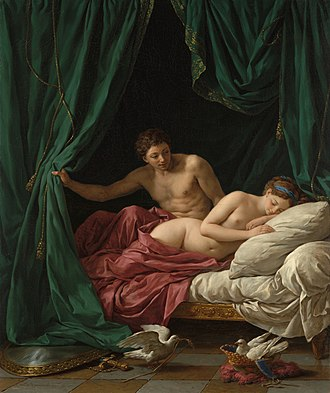 Louis-Jean-François Lagrenée - Mars and Venus; an allegory of Peace, (1770).