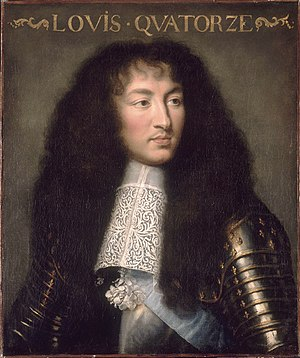 Louis XIV, King of France, in 1661.