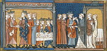 Painting of Henry and Louis IX