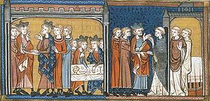 Pintura de Enrique y Luis IX