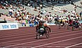 Louise Sauvage, wheelchair race, 1992 Paralympics.jpg