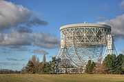 The 76 m Lovell Telescope at Jodrell Bank Observatory.