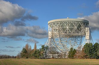 School of Physics and Astronomy, University of Manchester - The Lovell Telescope at Jodrell Bank Observatory, part of the Jodrell Bank Centre for Astrophysics in Cheshire.