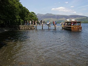 English: Low Brandelhow Landing Stage Low Bran...