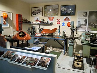 Christopher Cockerell - Cockerell's workshop reassembled at Lowestoft Maritime Museum