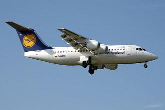 Lufthansa CityLine - A former Lufthansa CityLine Avro RJ85