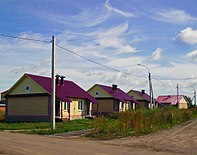 Lukoyanov. New cottages in Southwest Microraion.jpg