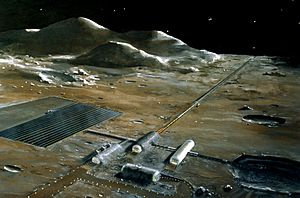 Stanford torus - Image: Lunar base concept drawing s 78 23252