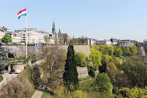 Festung Luxemburg. Luxembourg Fortress from Adolphe Bridge 02 c67