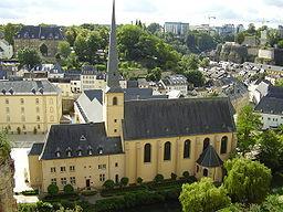 Klosterkyrkan Neumünster i bydelen Grund