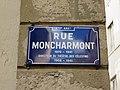 Lyon 2e - Rue Montcharmont - Plaque (mars 2019).jpg