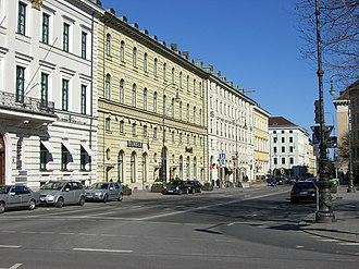 Brienner Straße (Munich) - Brienner Strasse, some mansions at the eastern part