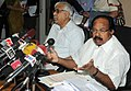 M. Veerappa Moily addressing a Press Conference after the 7th Regional Consultation on Electoral Reforms, organised by the Ministry of Law & Justice and the Election Commission of India.jpg