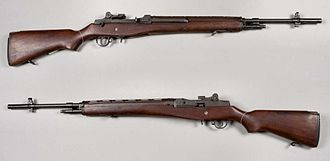 M14 rifle - An M14 rifle shown from both sides without its magazine.