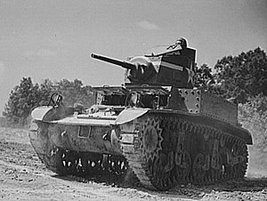 192nd Tank Battalion - US Army M3 Stuart tank at Fort Knox Ky
