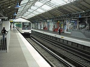 Glacière (Paris Métro) - Image: M6Glacières